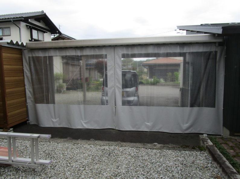高山市:防風カーテン
