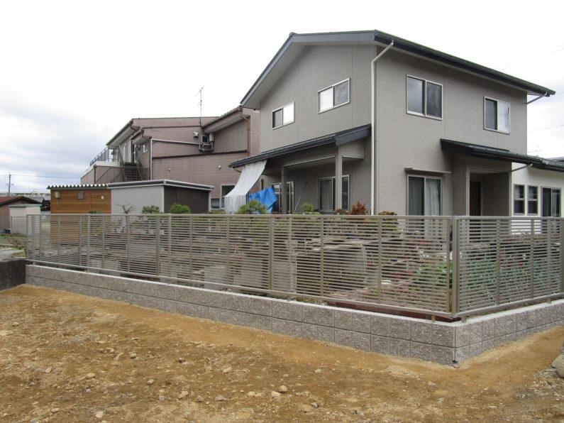 高山市:ブロック塀 フェンス