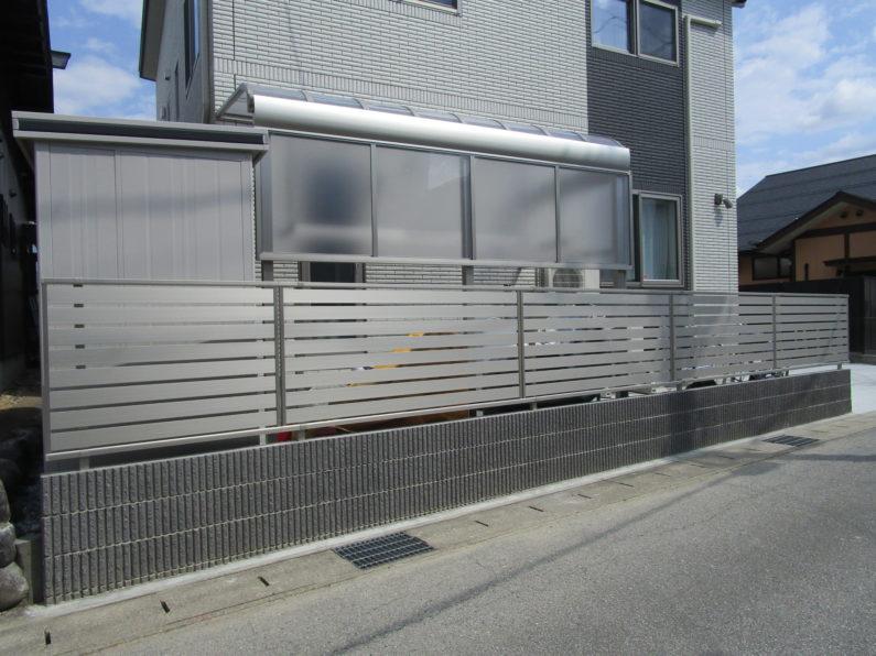 高山市:テラス屋根(サイドパネル)ブロック塀・フェンス 物置